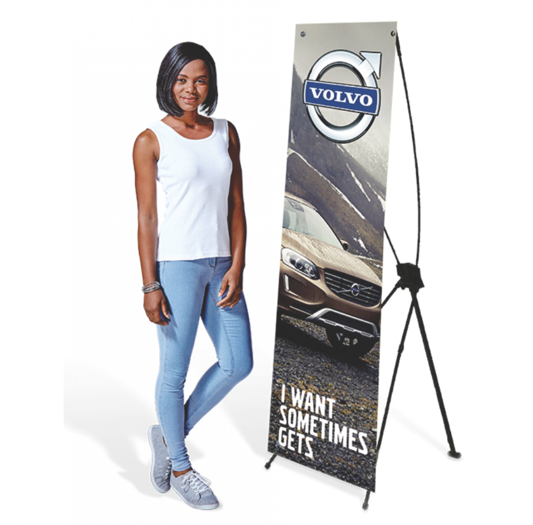 Sublimated Exposure X-banner Small (1.56 X 0.69m)