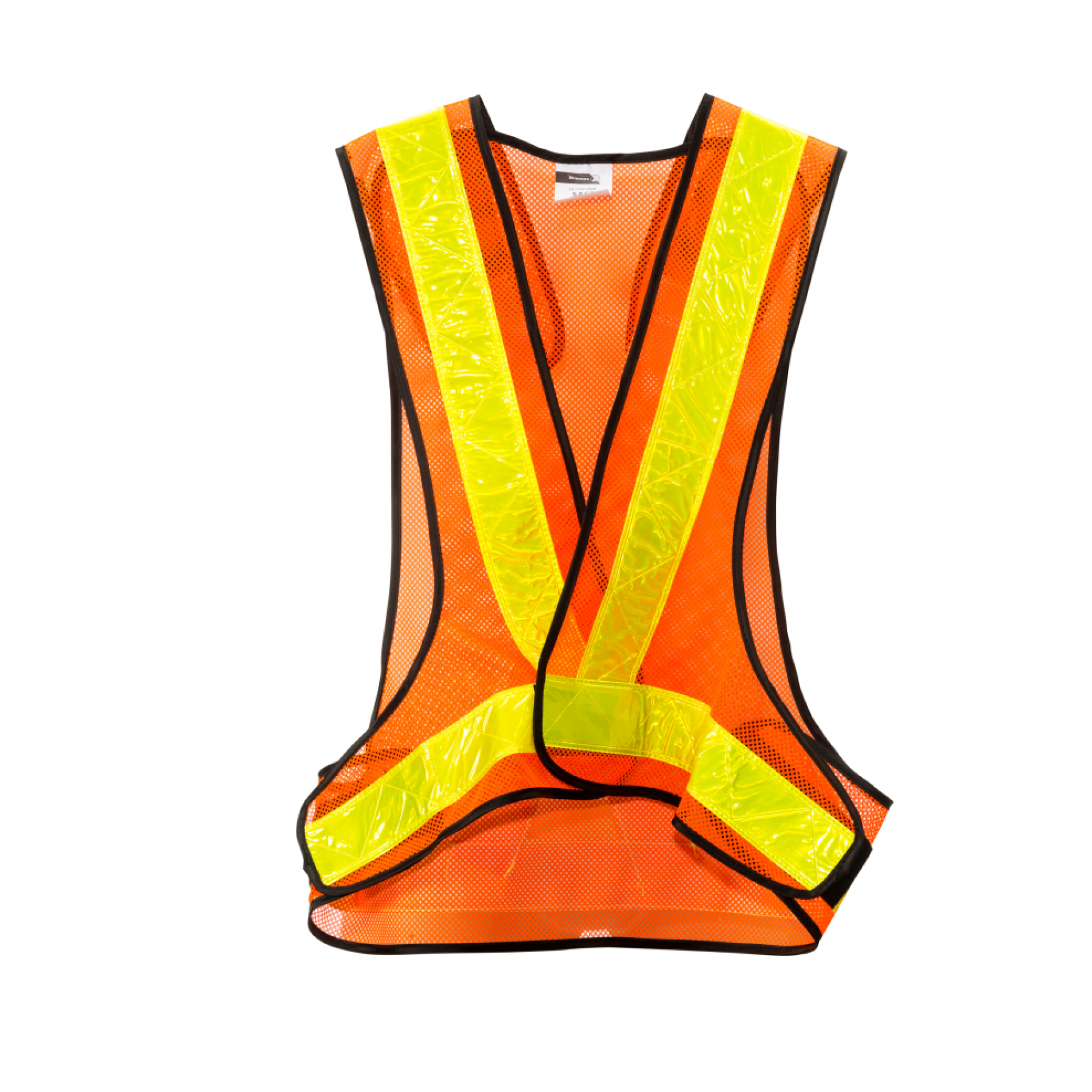 Orange Reflective Vest, Yellow Tape, Adjustable