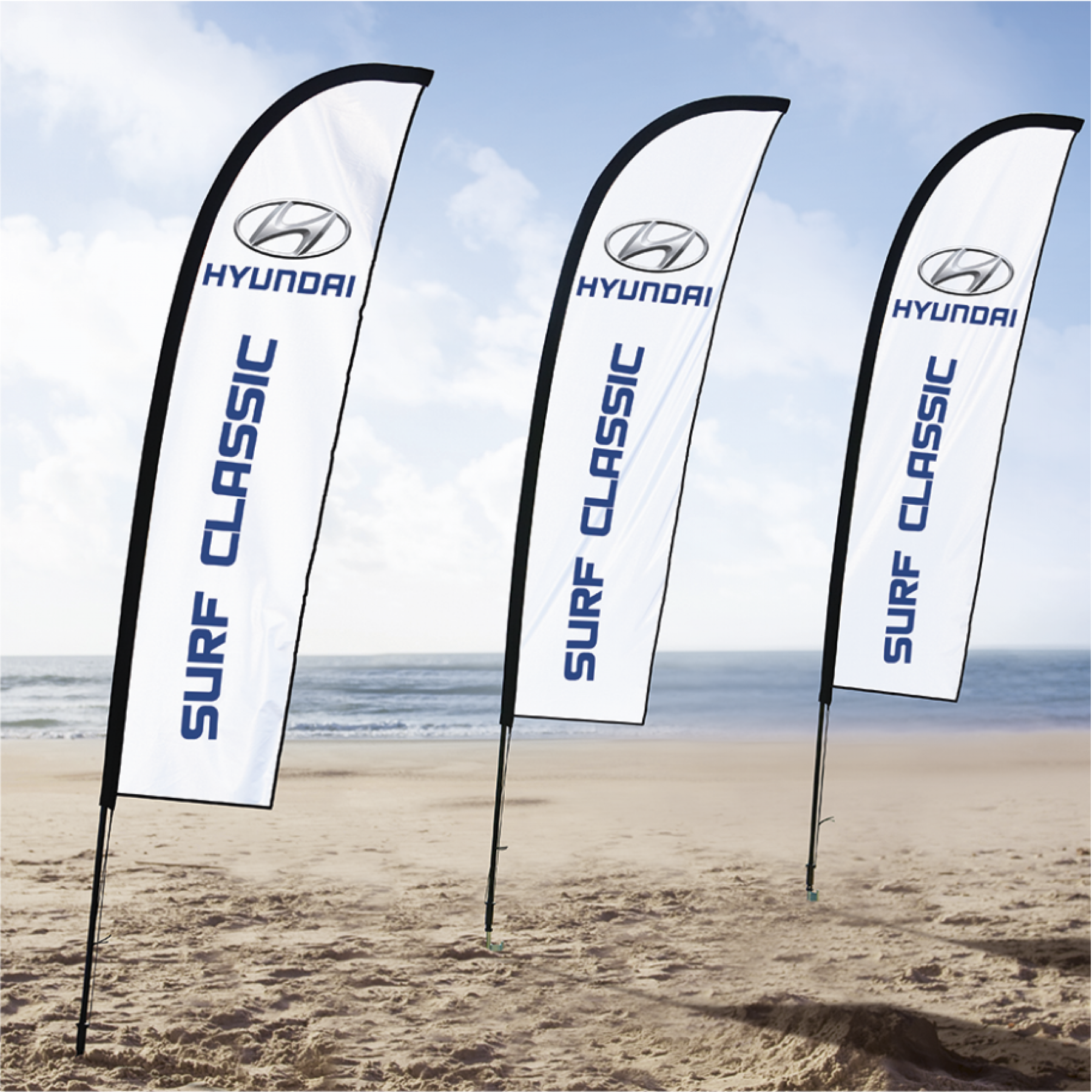 Wind Cheater Banners Deluxe Double Sided - Digital - Skin Only