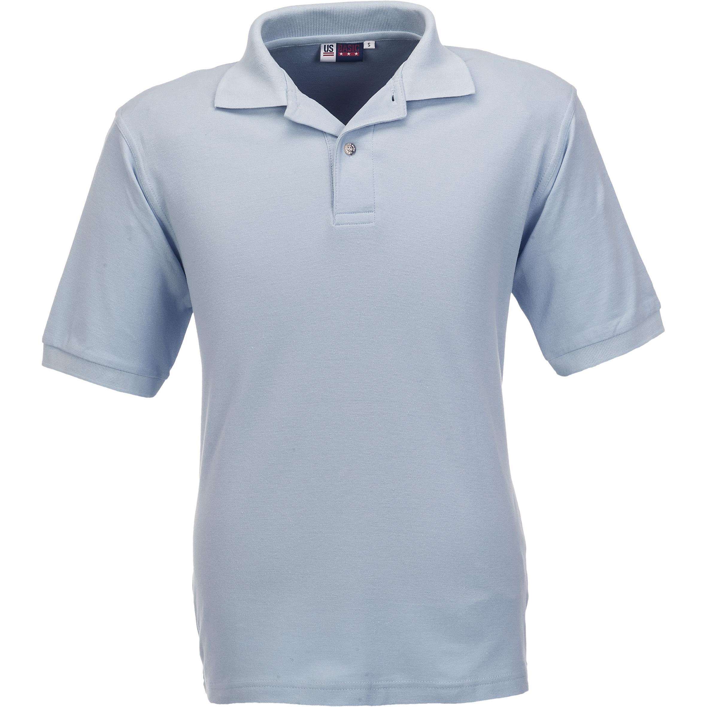 Mens Boston Golf Shirt - Ocean Blue Only