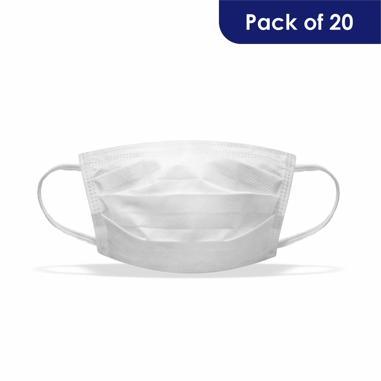 Vimbela Stock Plain White 2 Ply (pack Of 20)