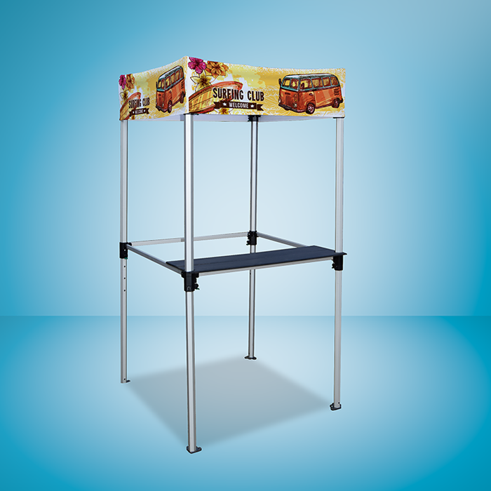 Gazebo Aluminium Frame - Frame With Shelf - Digital Print