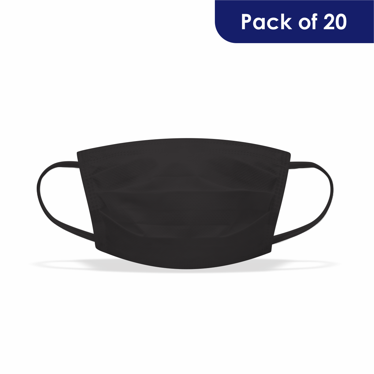 Vimbela Stock Plain Black 2 Ply (pack Of 20)