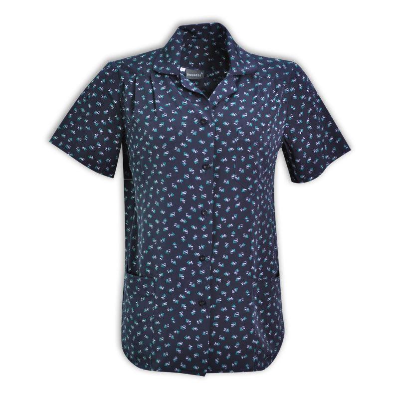 Sandra Short Sleeve Blouse - Starburst Design