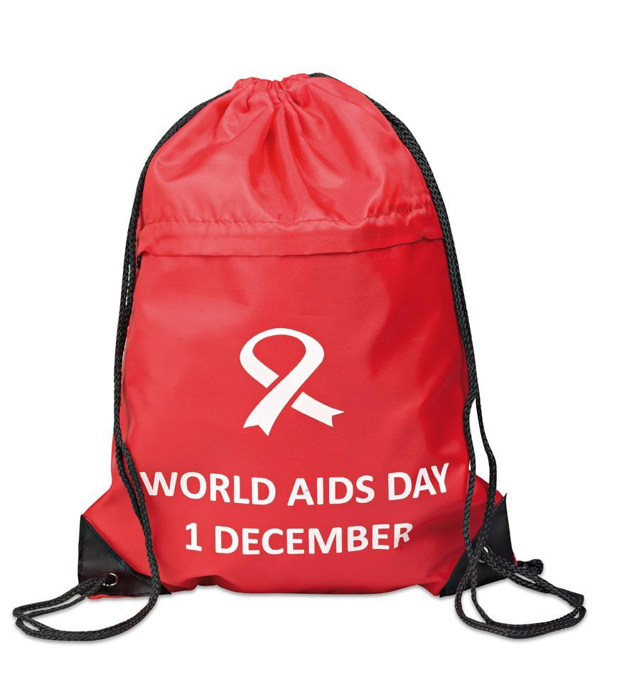 World Aids Day Drawstring Bag