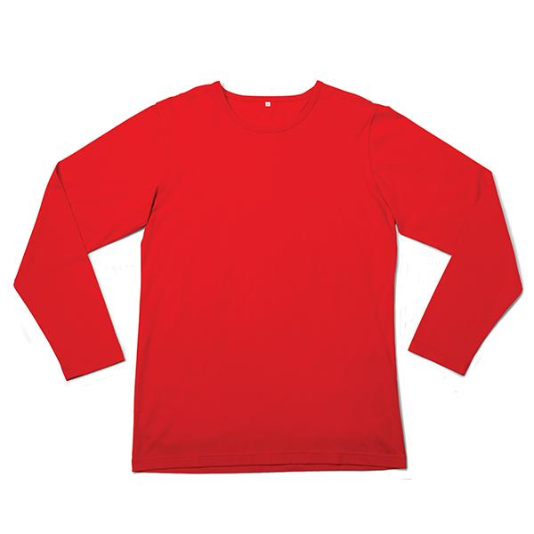 Mens L/ Sleeve  T - Red