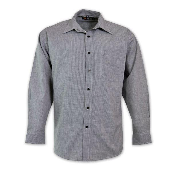 Ladies Microcheck Shirt - Long Sleeve
