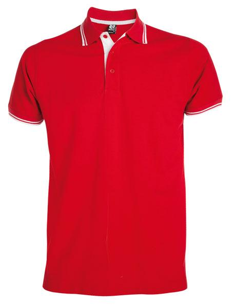 Montreal 2 Tone Golfer-xl/red & White