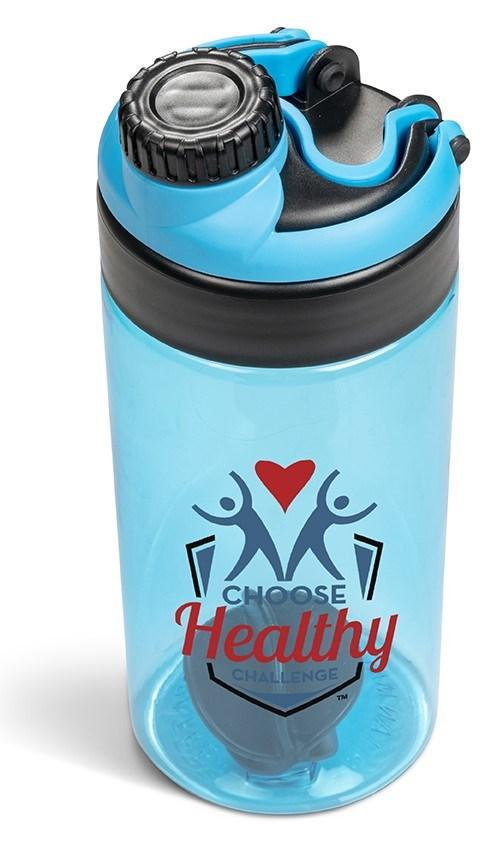 Sports & Wellness | Gianna Water Bottle Protein Shaker - 600ml - Cyan Only - 1