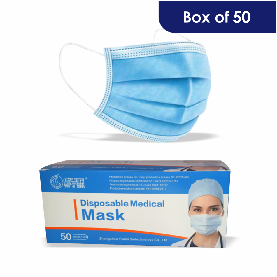 Masks 3 Ply Surgical (box Of 50)