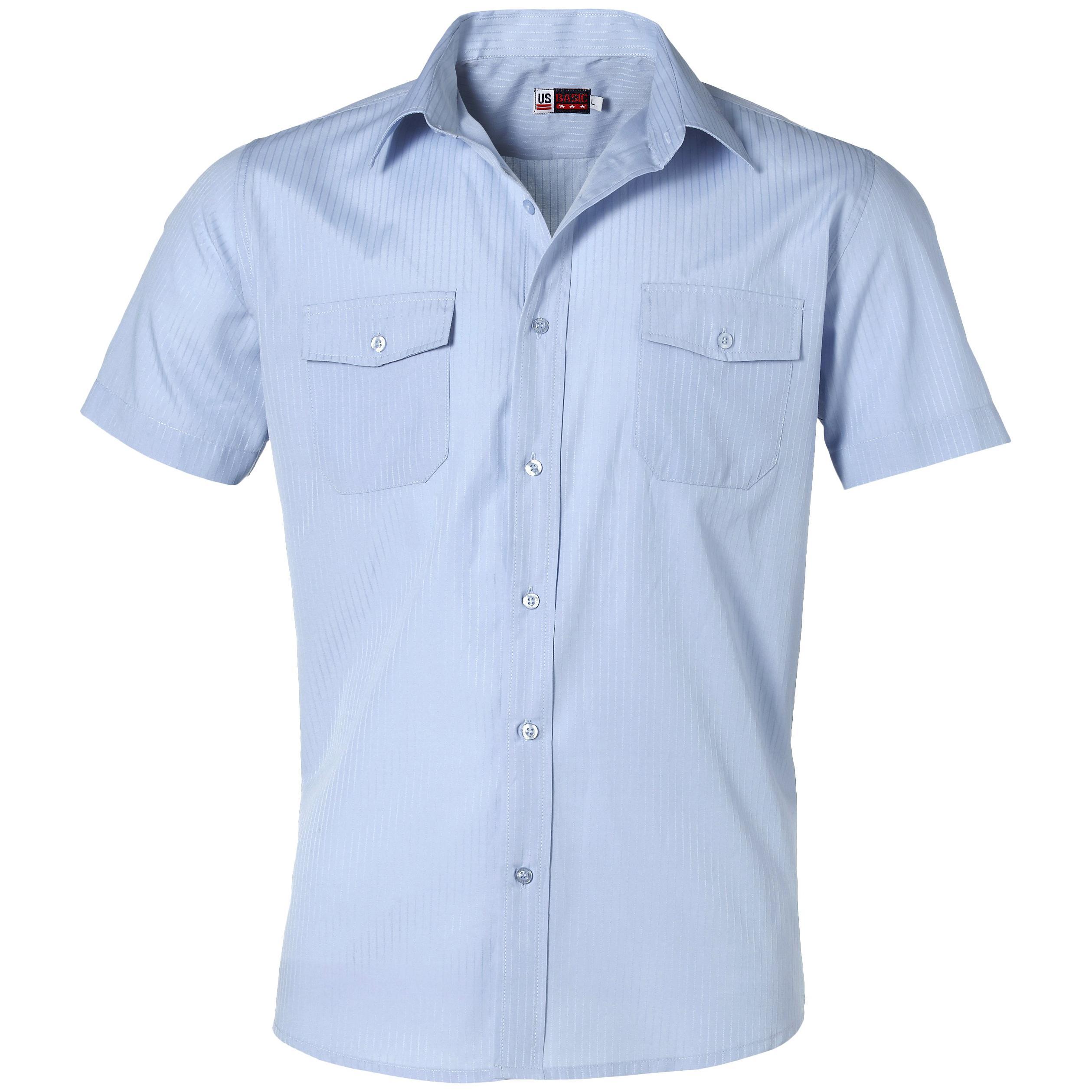 Mens Short Sleeve Bayport Shirt - Light Blue Only