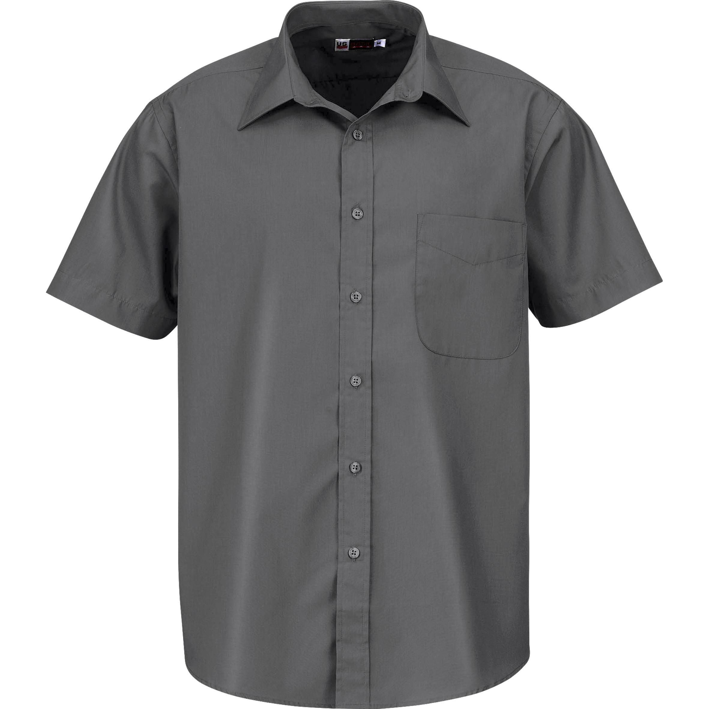 Mens Short Sleeve Washington Shirt - Grey Only