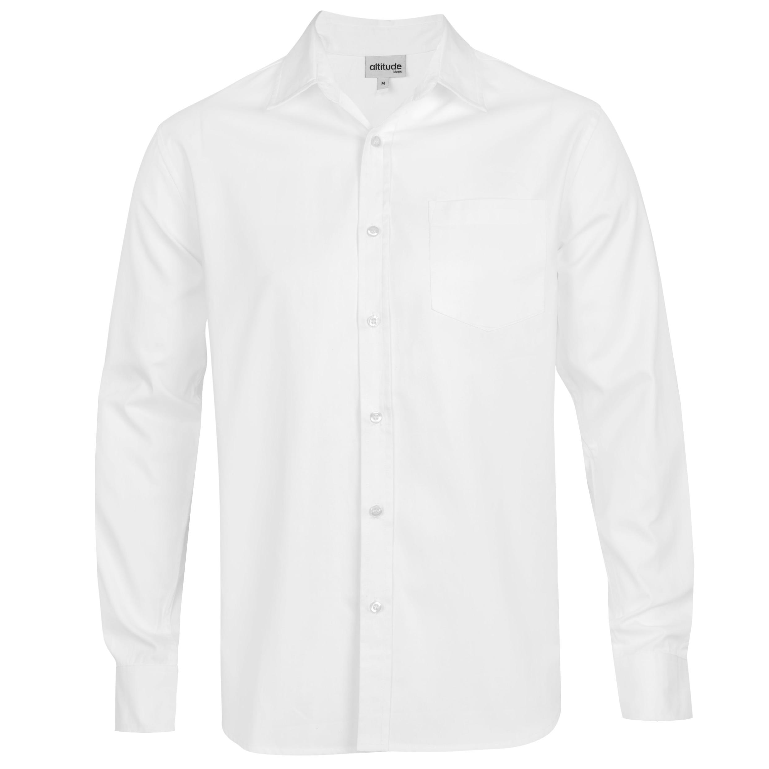 Mens Long Sleeve Seattle Twill Shirt -white Only