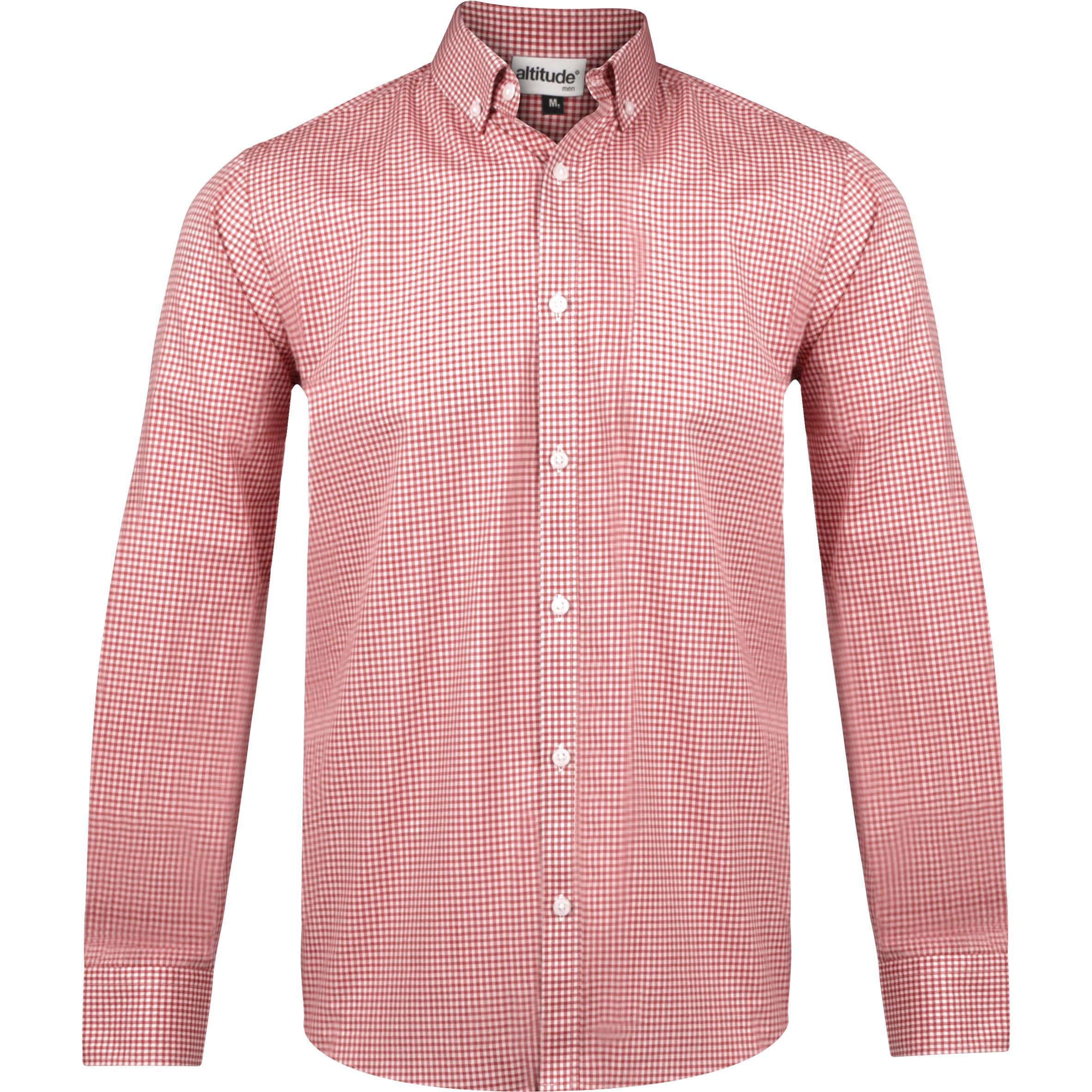 Mens Long Sleeve Edinburgh Shirt - Red Only