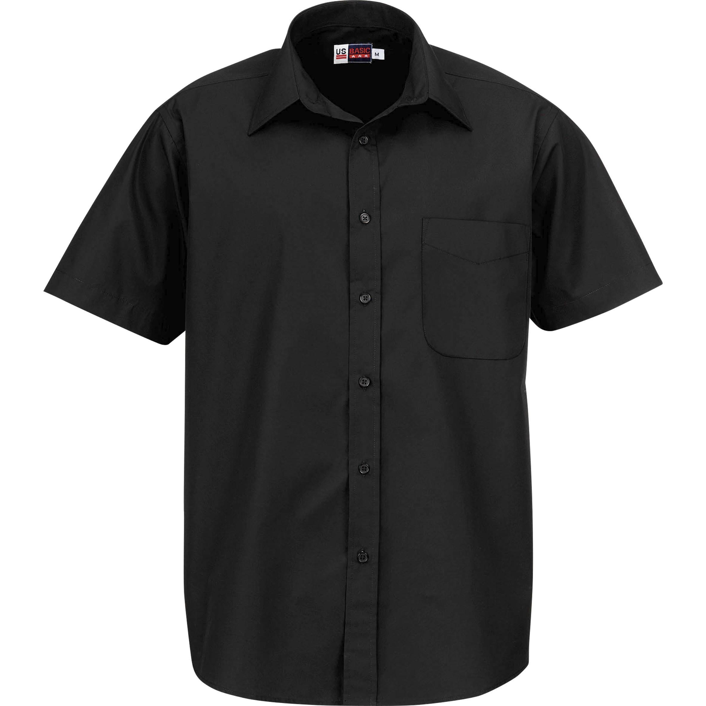 Mens Short Sleeve Washington Shirt - Black Only