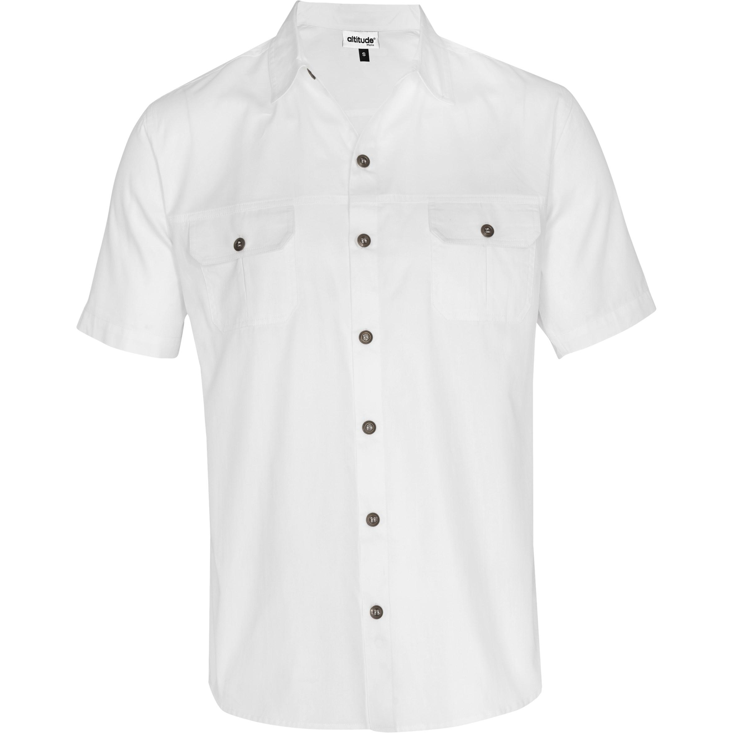 Mens Short Sleeve Oryx Bush Shirt -white Only