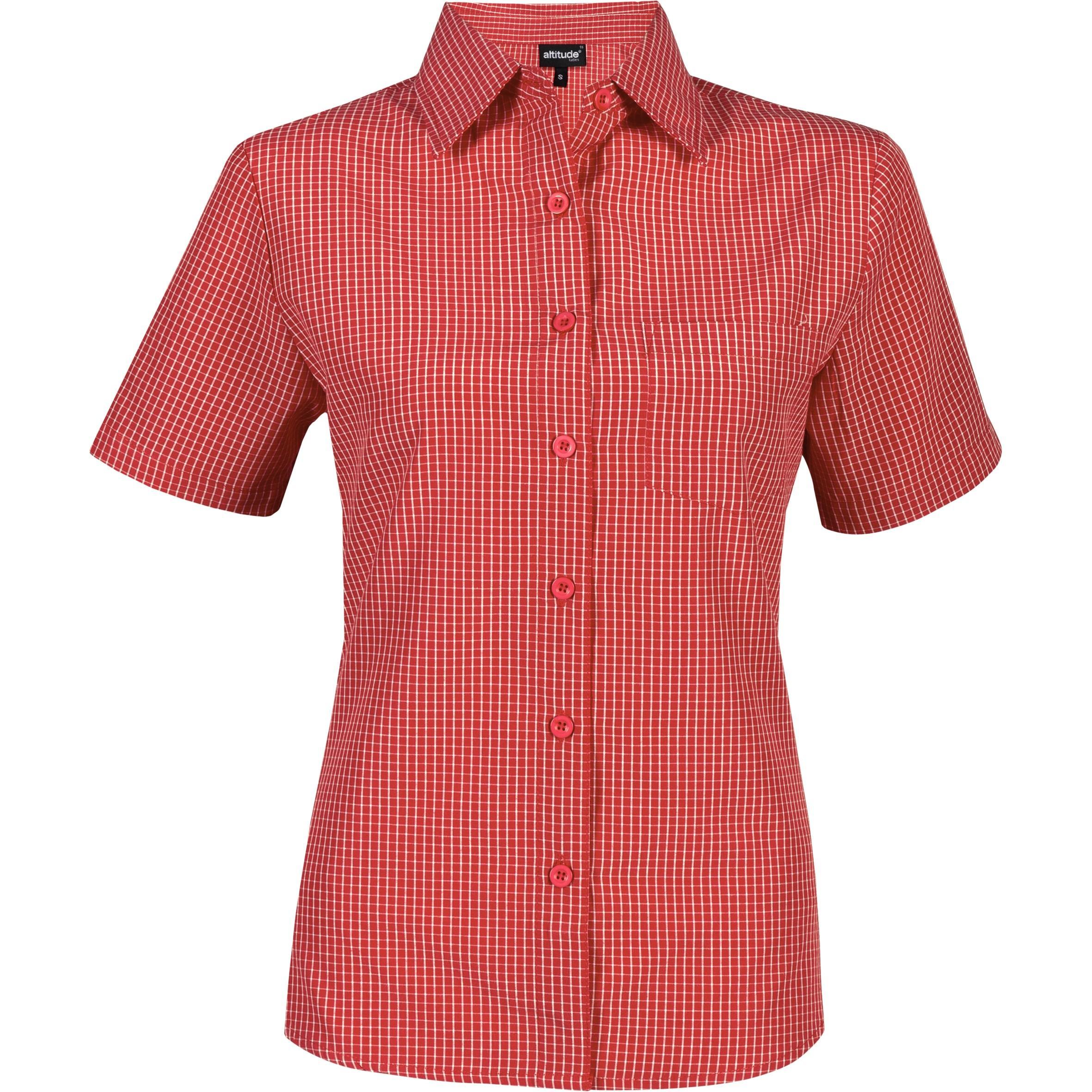 Ladies Short Sleeve Cedar Shirt - Red Only