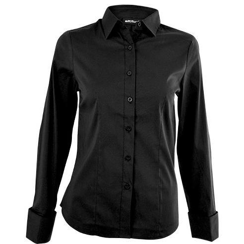 Denise Long Sleeve Blouse - Black Only