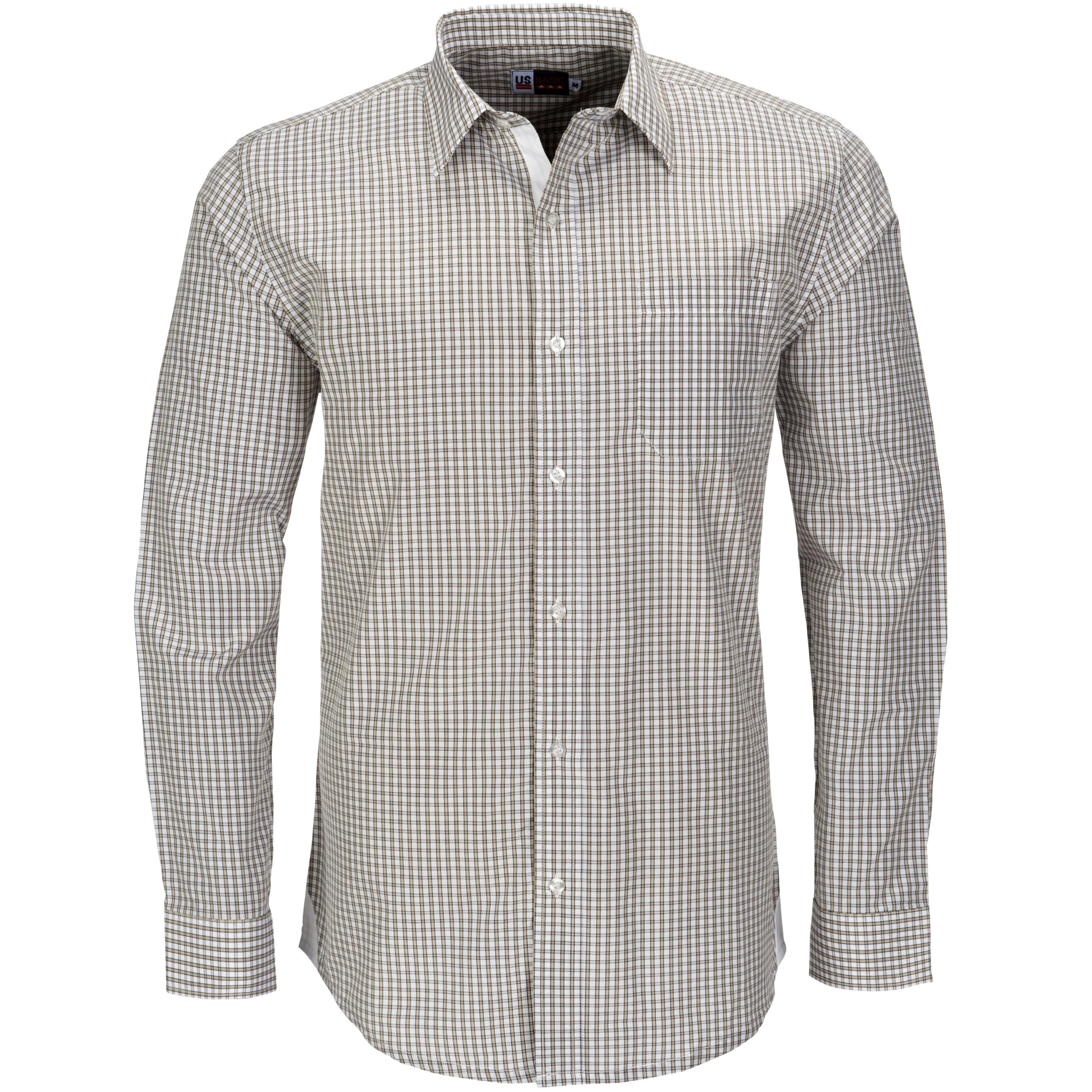 Mens Long Sleeve Kenton Shirt - Khaki Only
