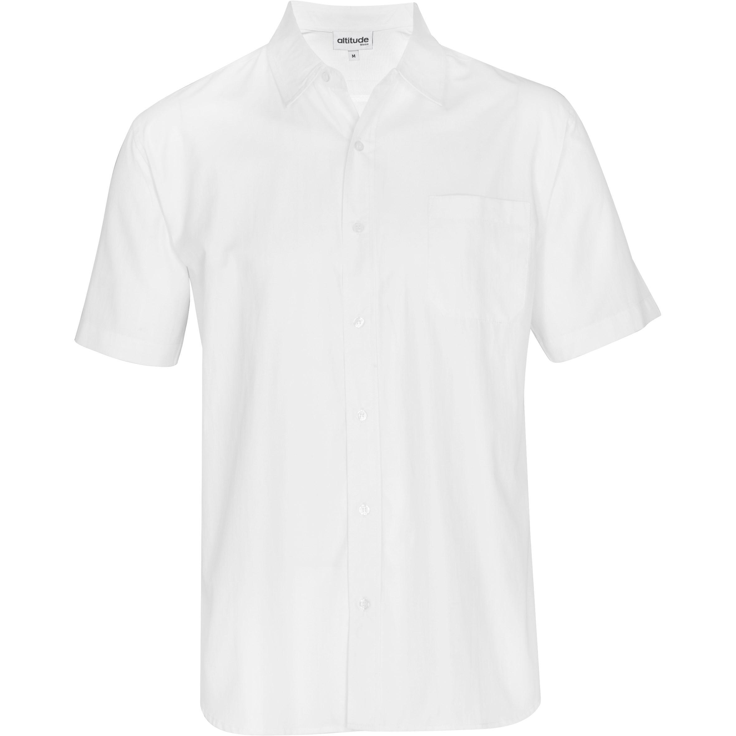 Mens Short Sleeve Catalyst Shirt -white Only