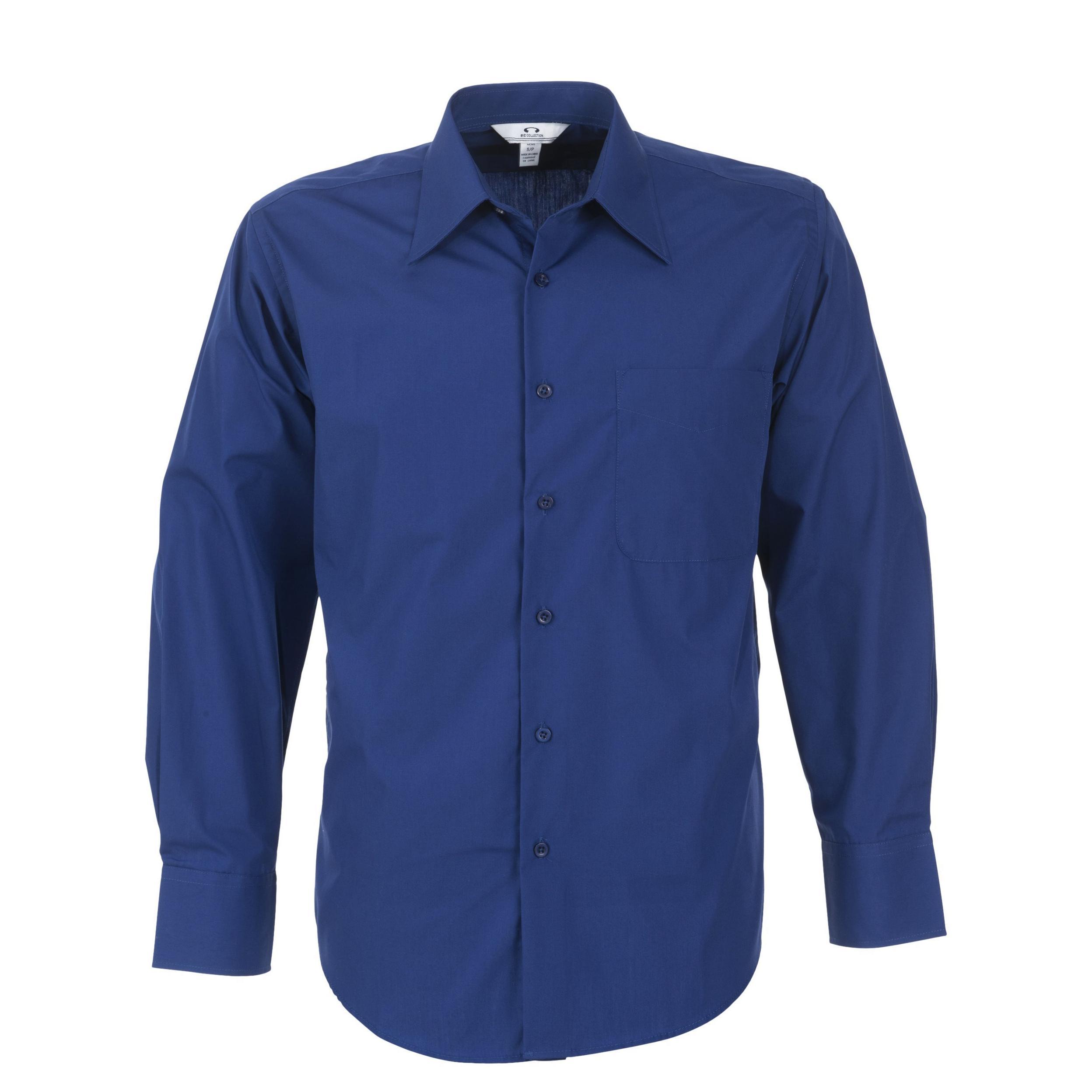 Mens Long Sleeve Metro Shirt - Royal Blue Only