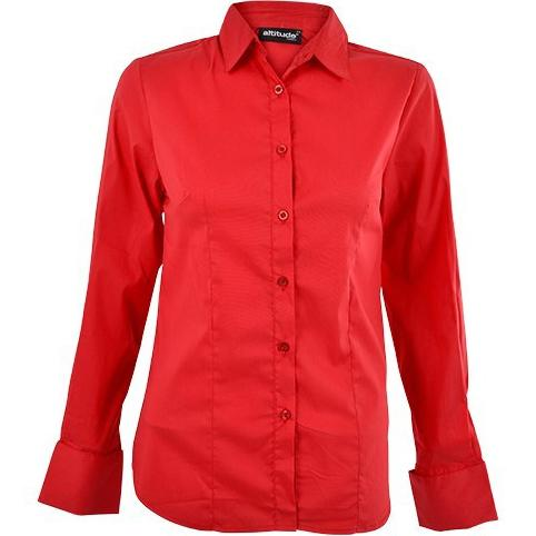 Denise Long Sleeve Blouse - Red Only