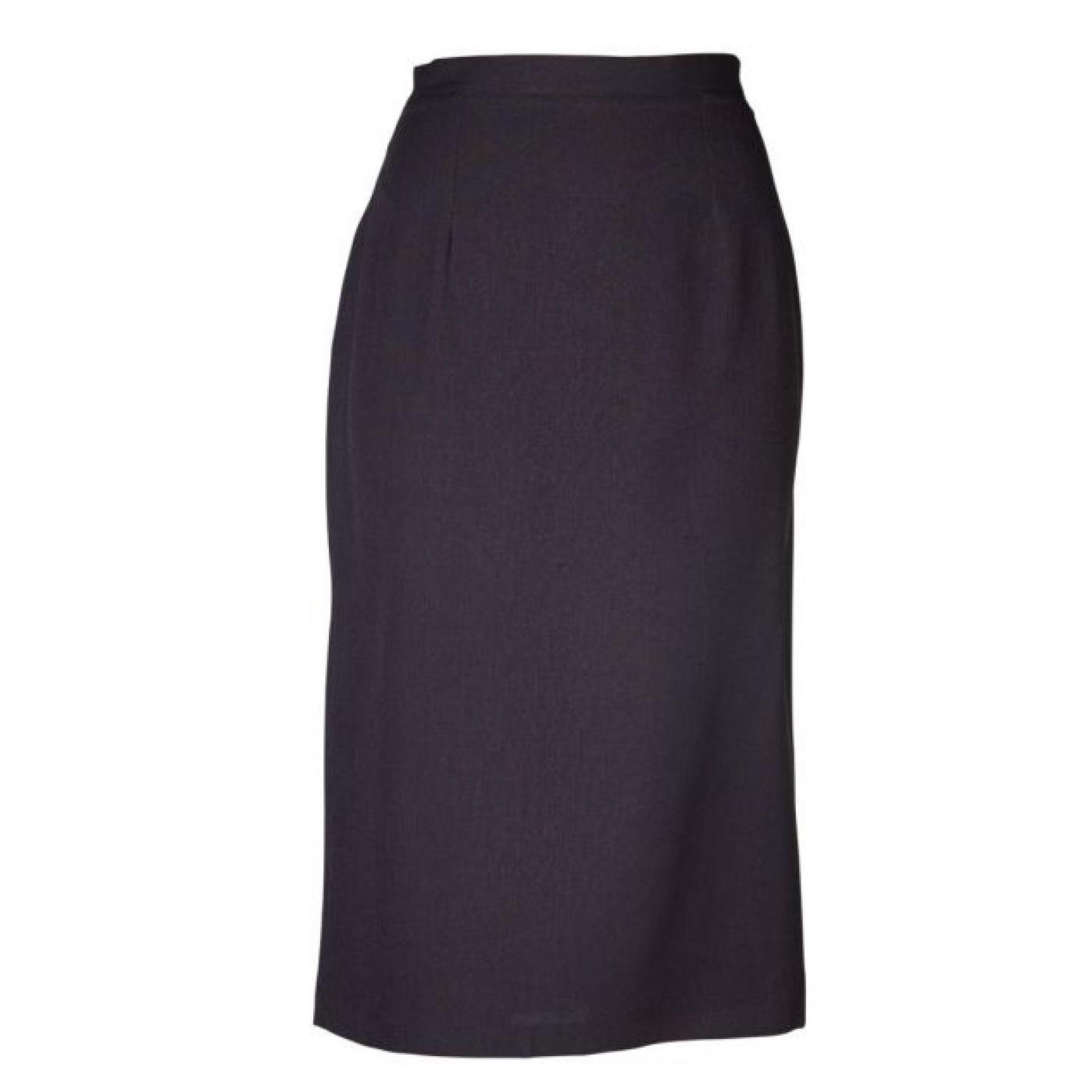 Claire Pencil Long Skirt - Cationic Charcoal