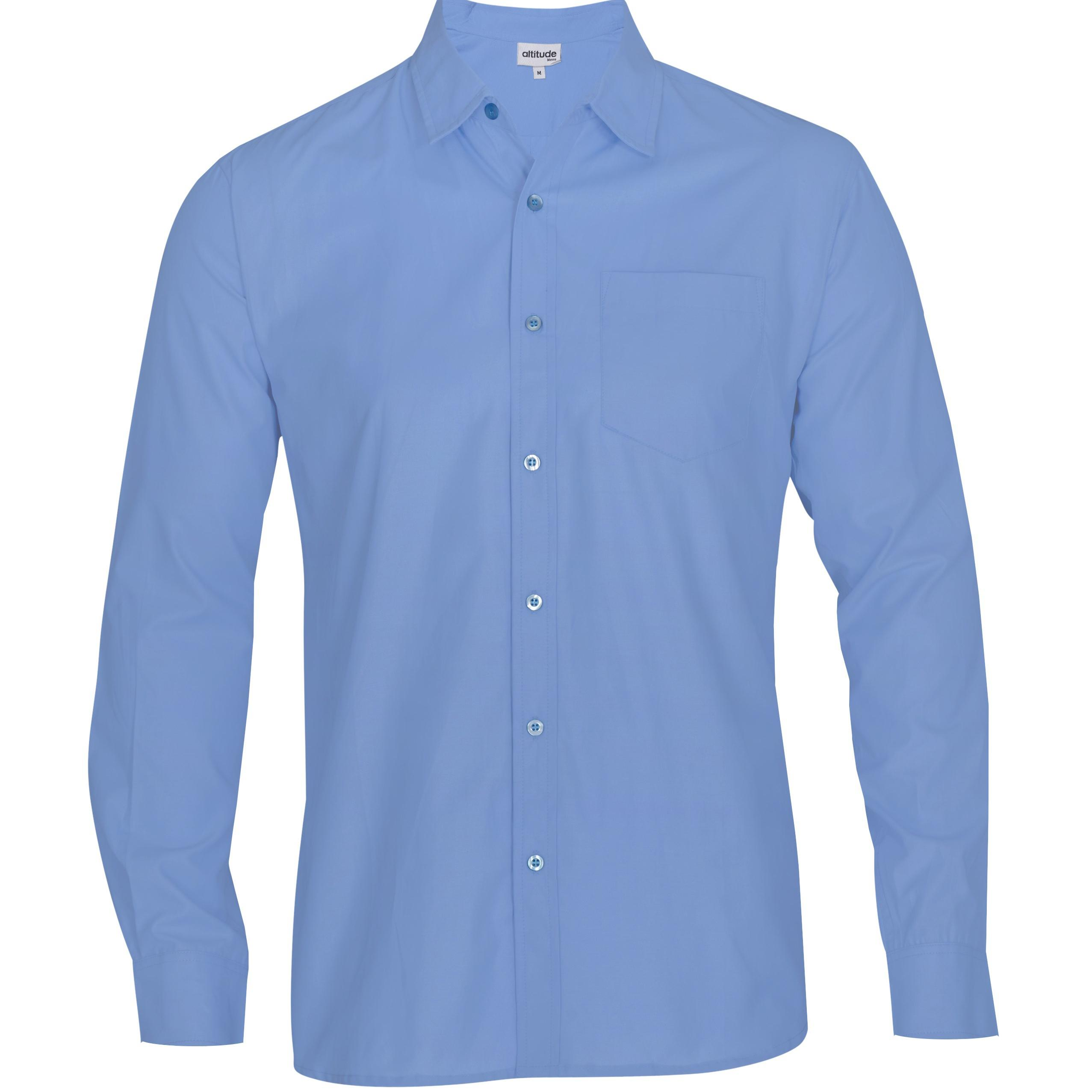 Mens Long Sleeve Catalyst Shirt  - Sky Blue Only