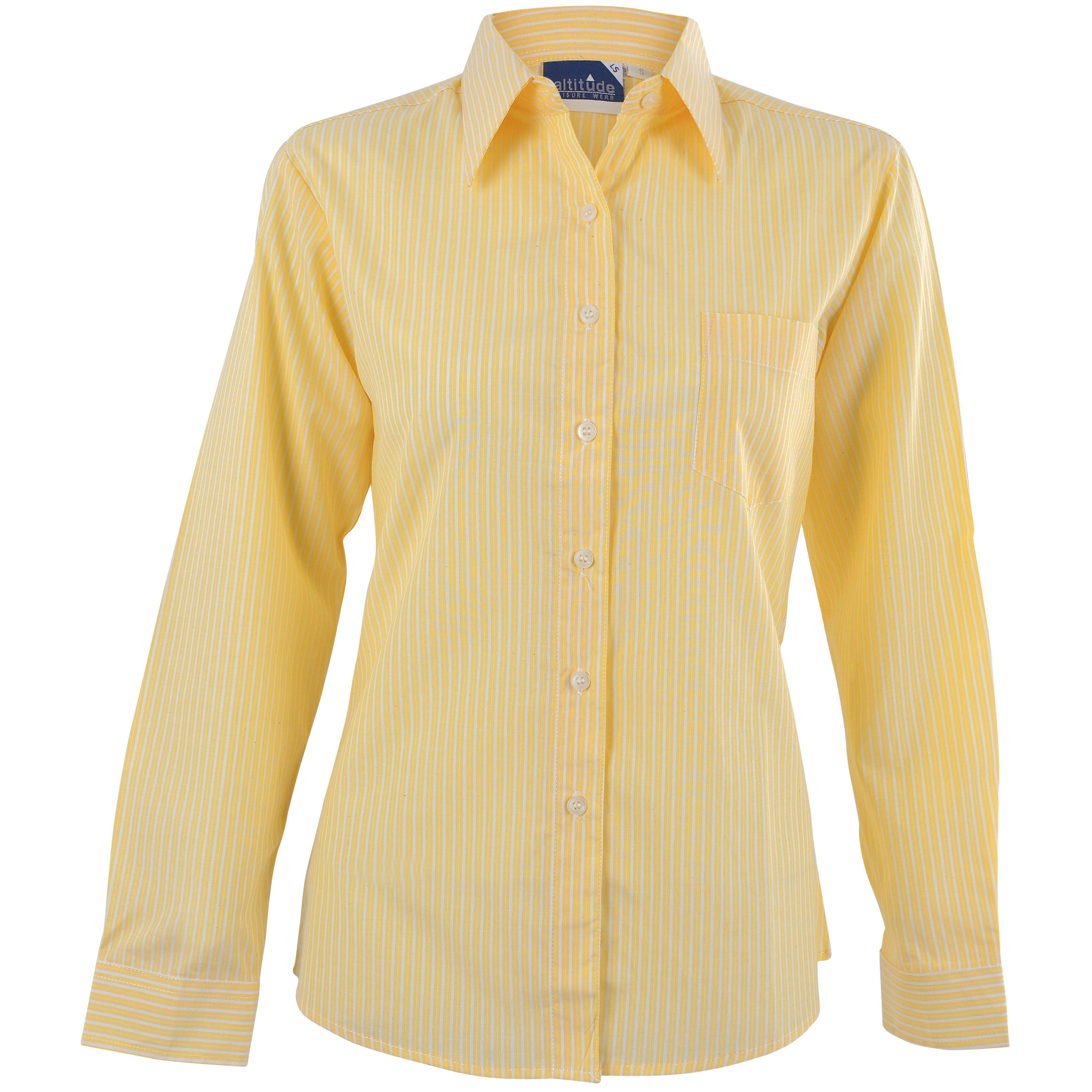 Ladies Long Sleeve Drew Shirt - Yellow Only
