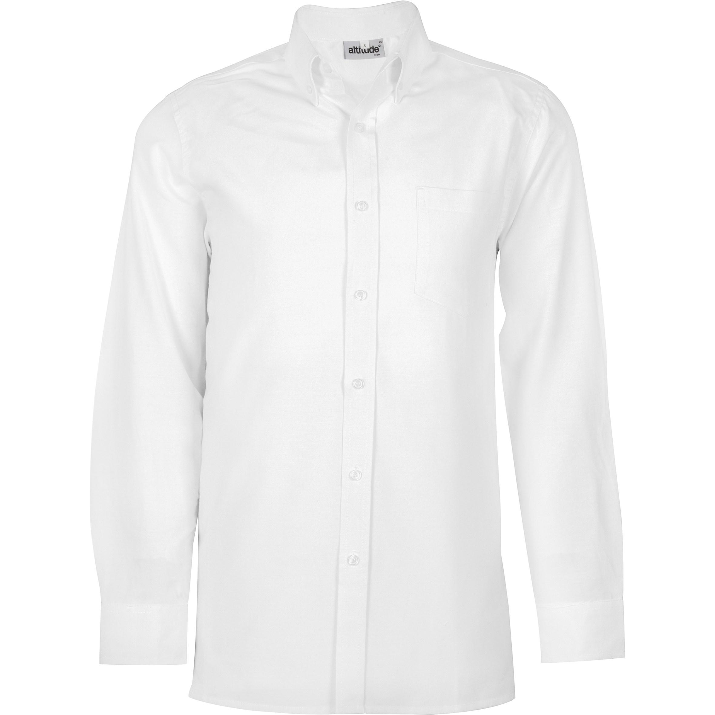 Mens Long Sleeve Oxford Shirt -white Only