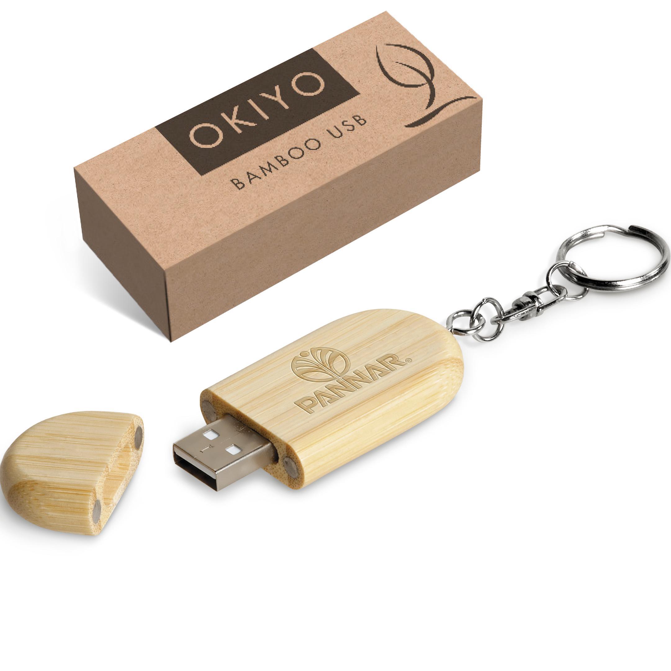Okiyo Benkyou Bamboo Memory Stick - 8gb