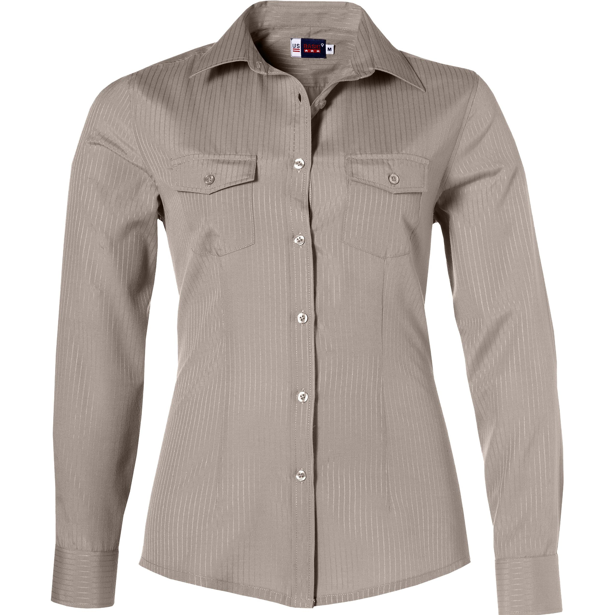Ladies Long Sleeve Bayport Shirt - Khaki Only
