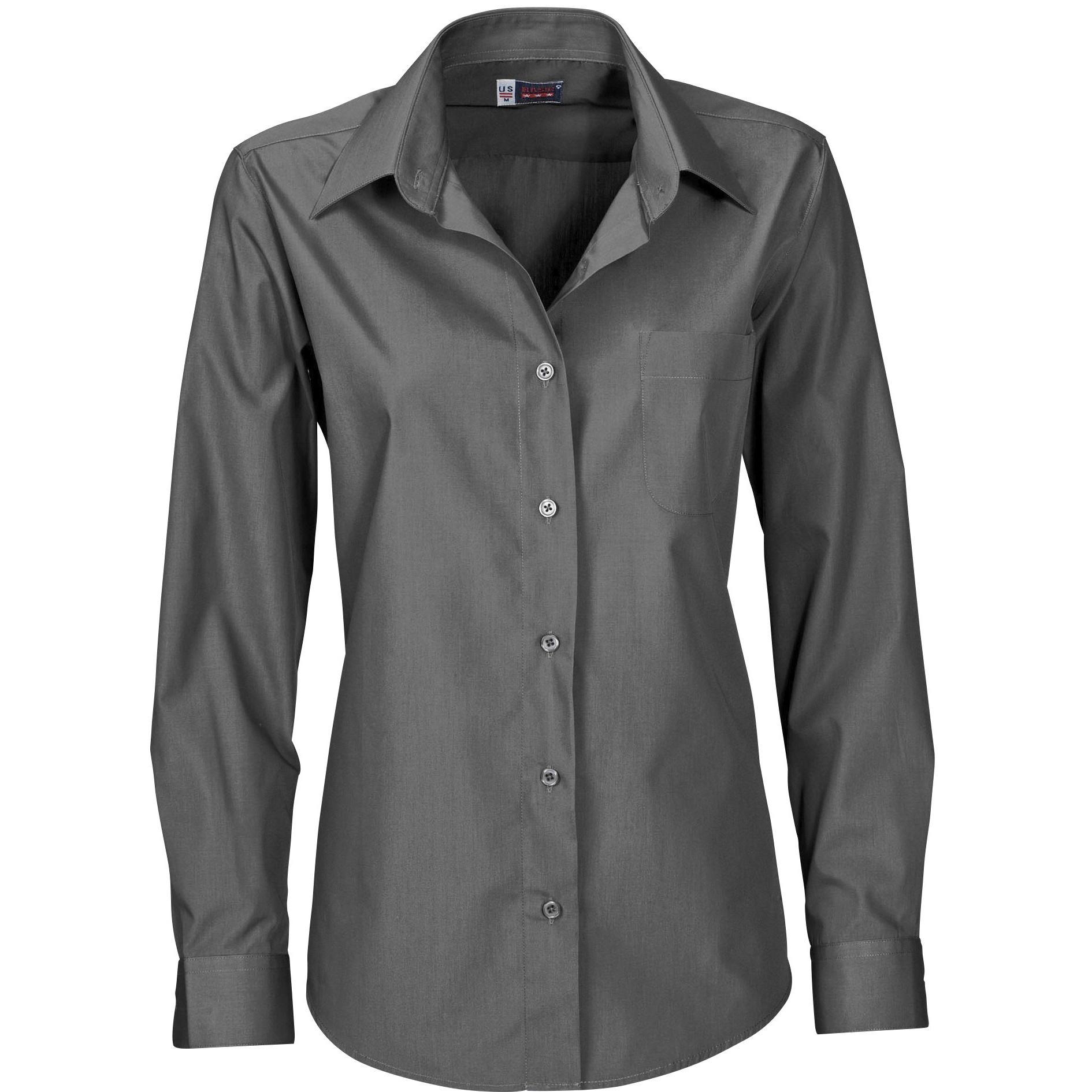 Ladies Long Sleeve Washington Shirt - Grey Only