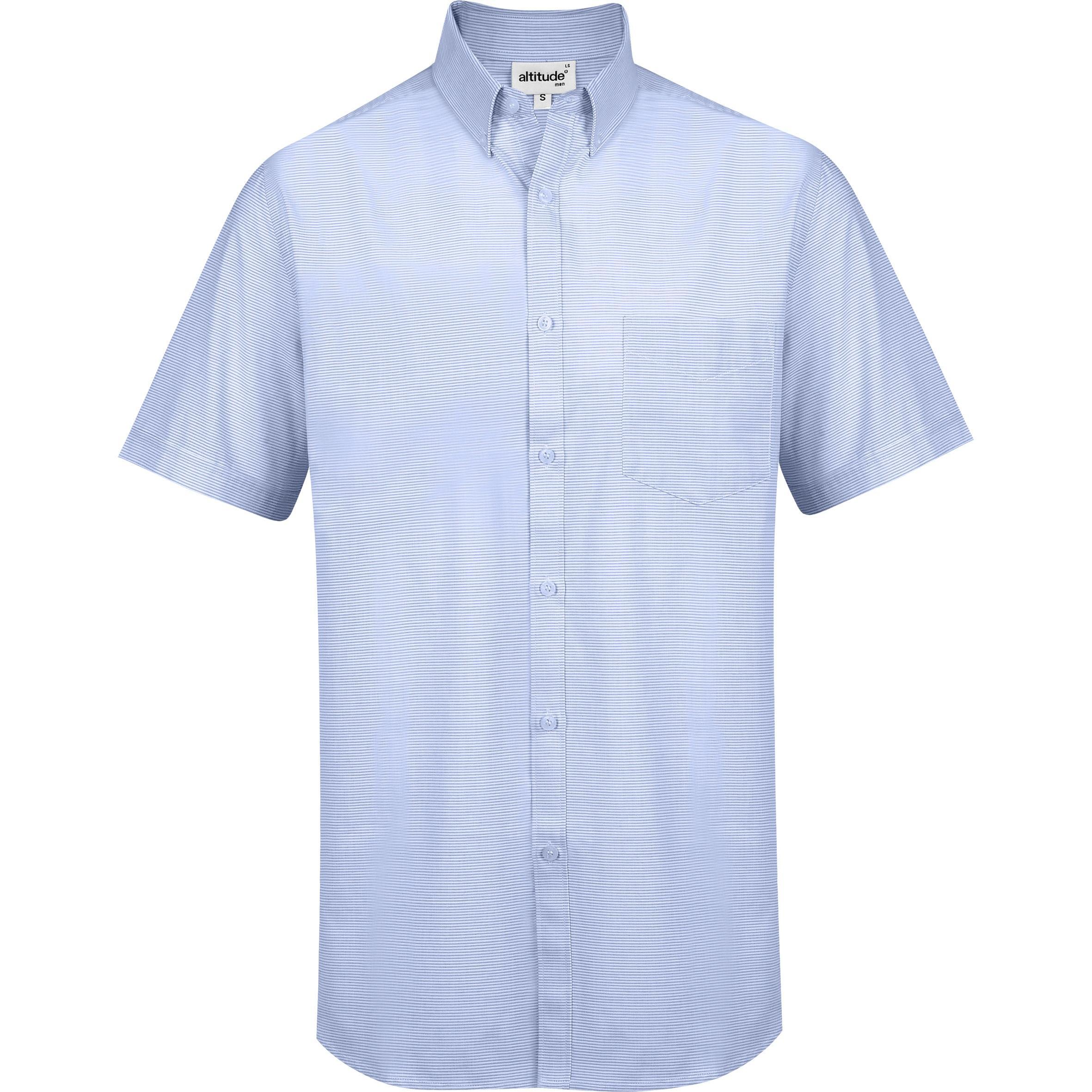 Mens Short Sleeve Earl Shirt - Sky Blue Only