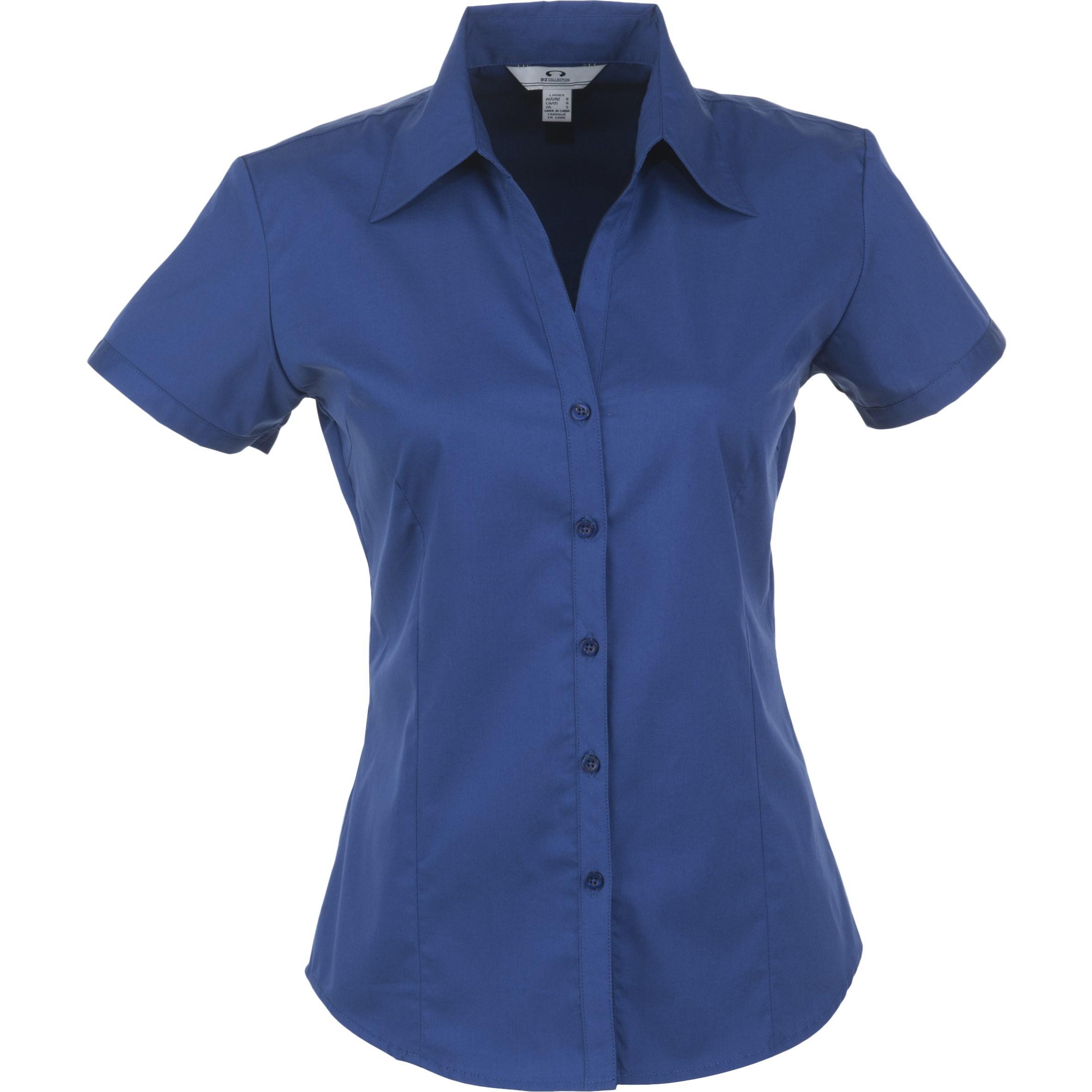 Ladies Short Sleeve Metro Shirt - Royal Blue Only