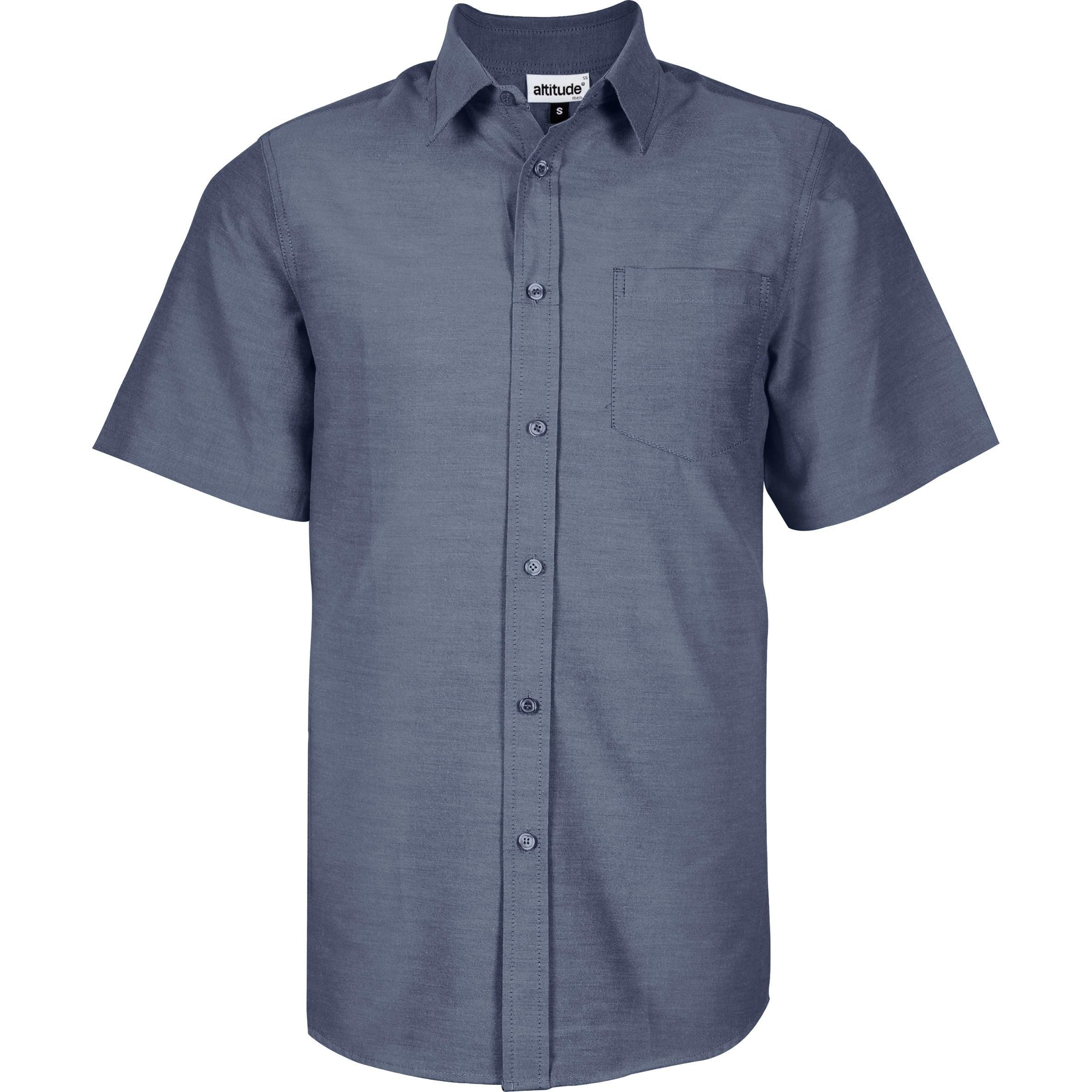 Mens Short Sleeve Oxford Shirt - Navy Only