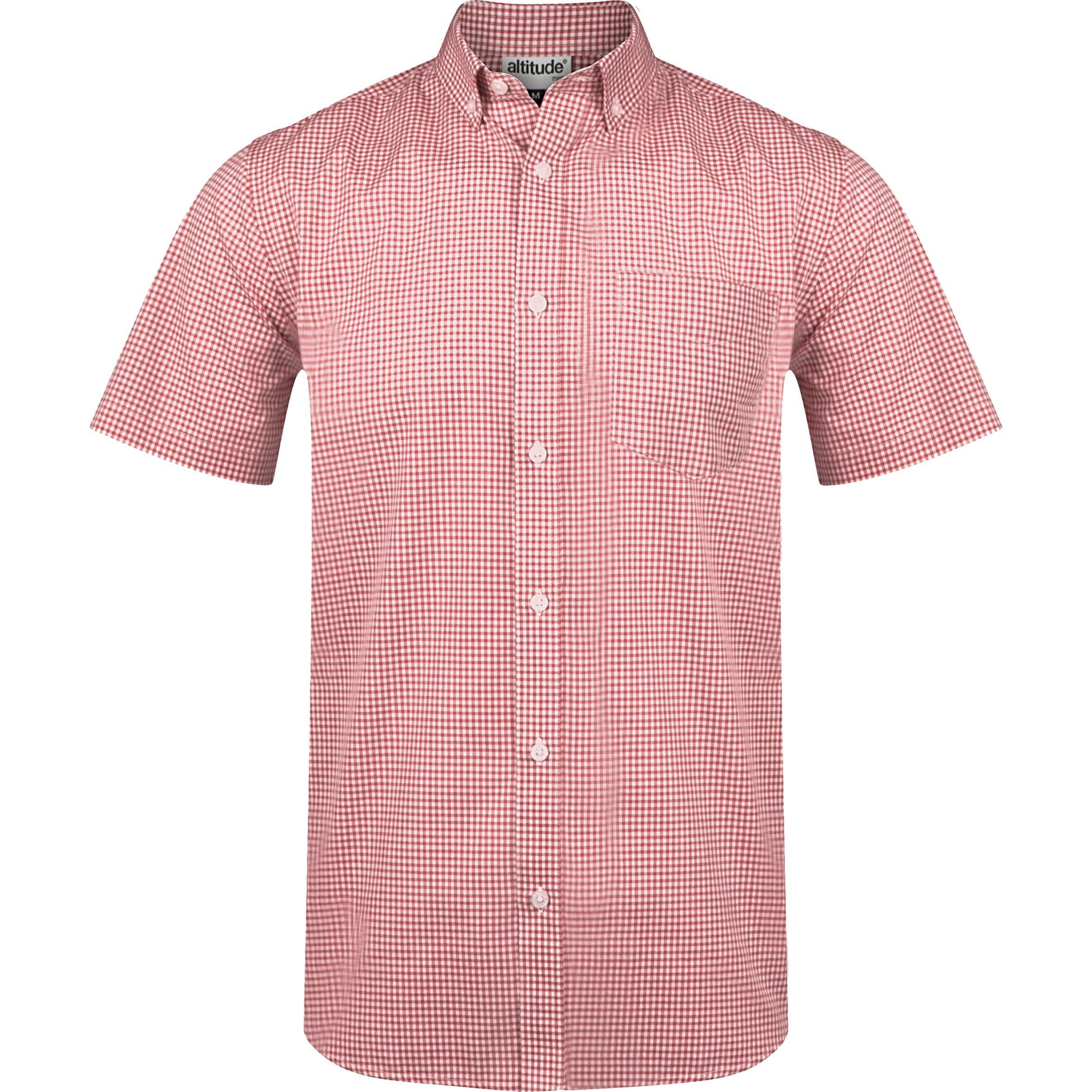 Mens Short Sleeve Edinburgh Shirt - Red Only