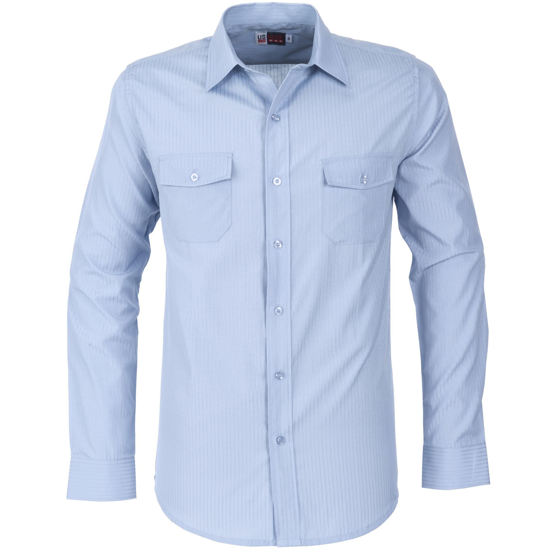 Mens Long Sleeve Bayport Shirt - Light Blue Only