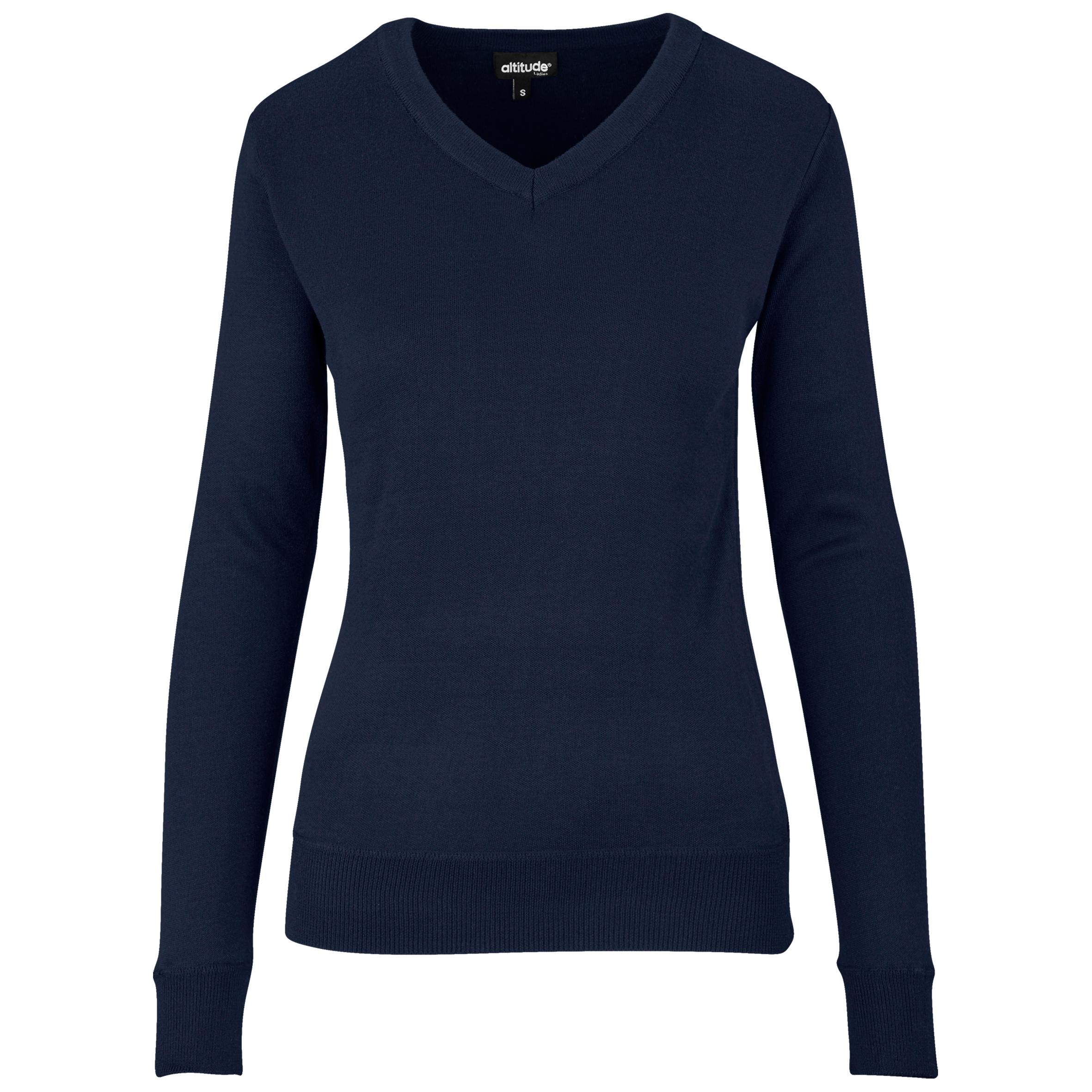 Ladies Long Sleeve Peru V-neck Jersey