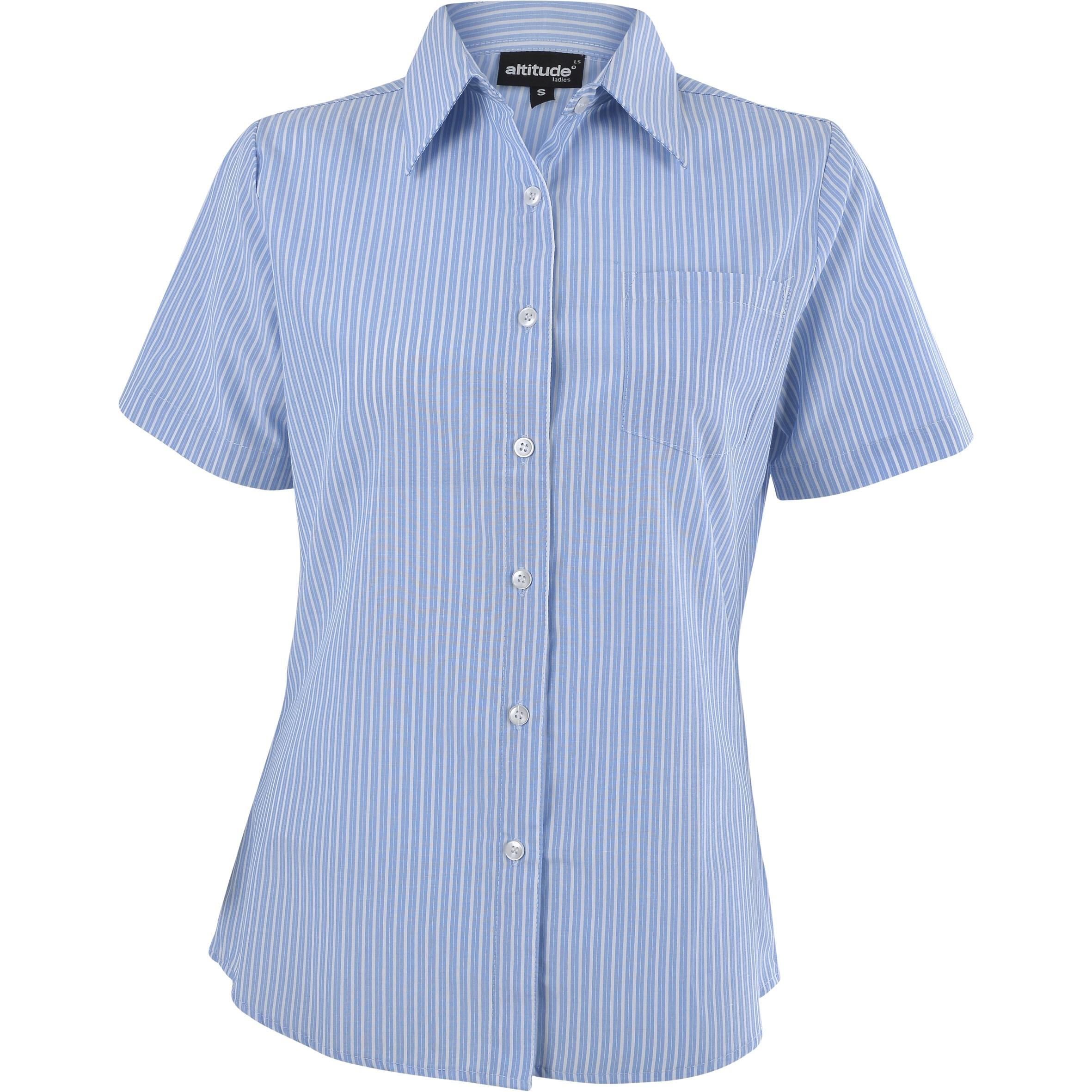 Ladies Short Sleeve Drew Shirt - Light Blue Only
