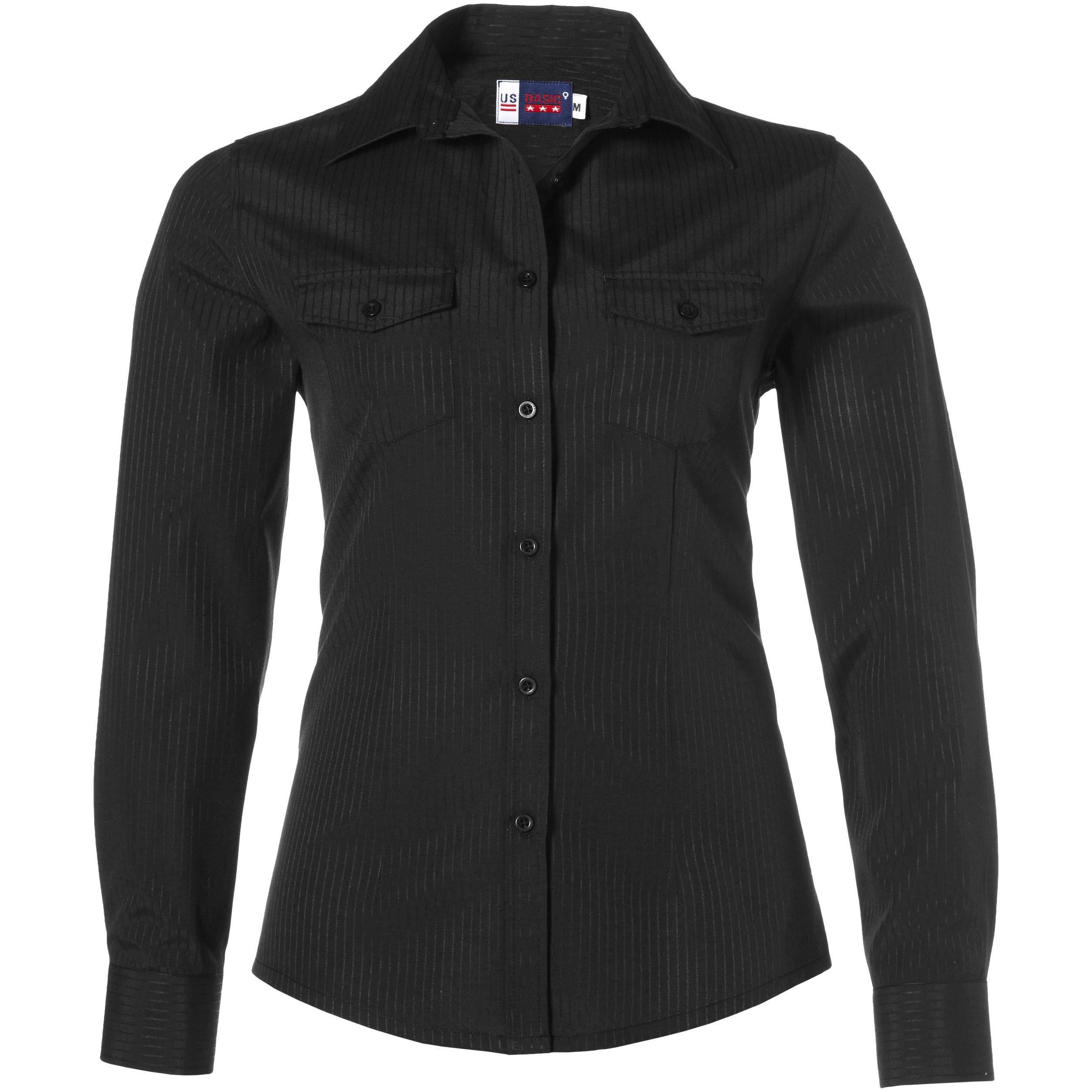 Ladies Long Sleeve Bayport Shirt - Black Only