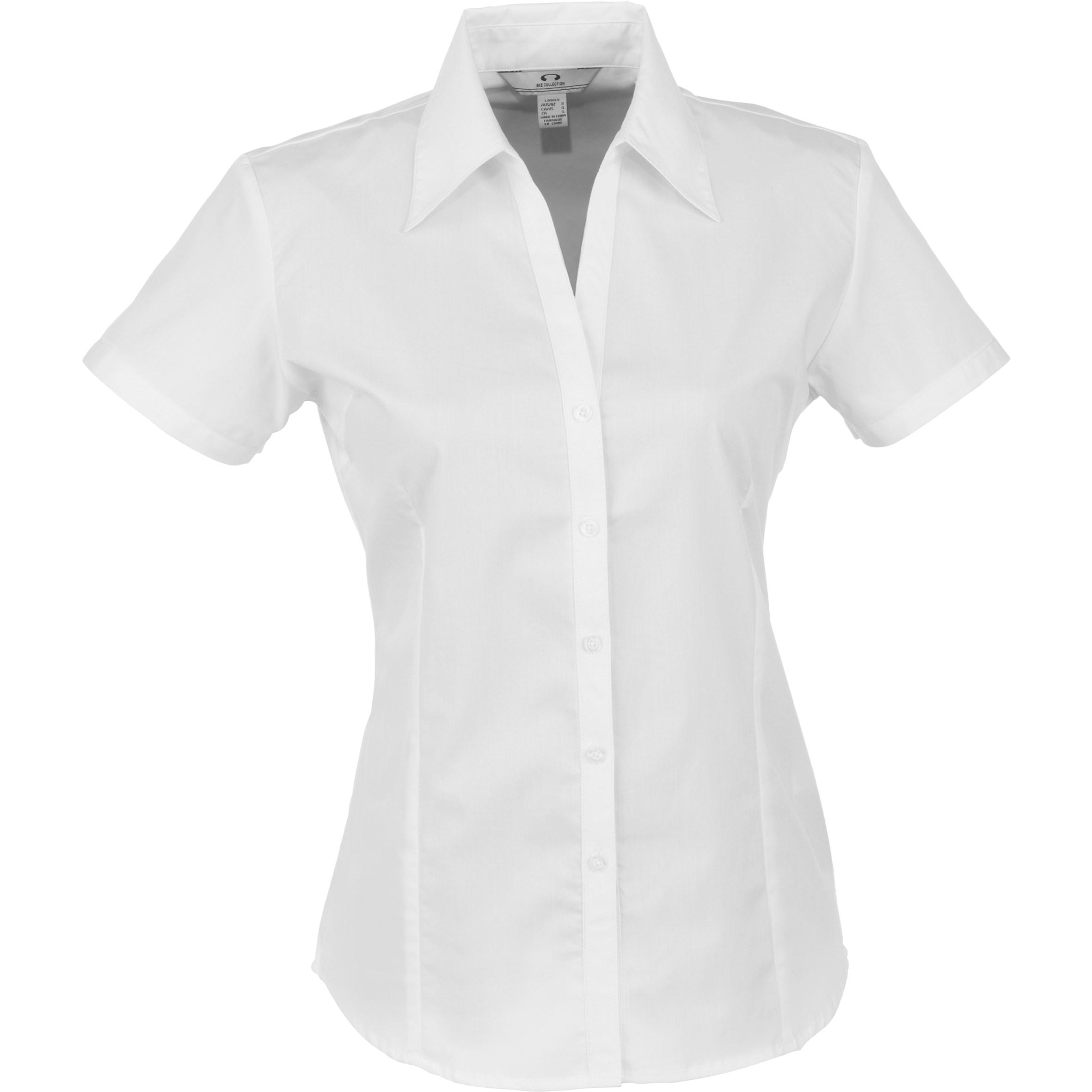 Ladies Short Sleeve Metro Shirt - White Only