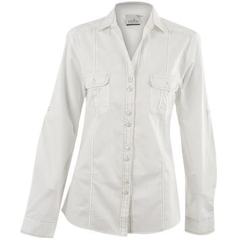 Ladies Long Sleeve Inyala Shirt - White Only