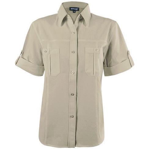 Tracker Short Sleeve Blouse - Stone Only
