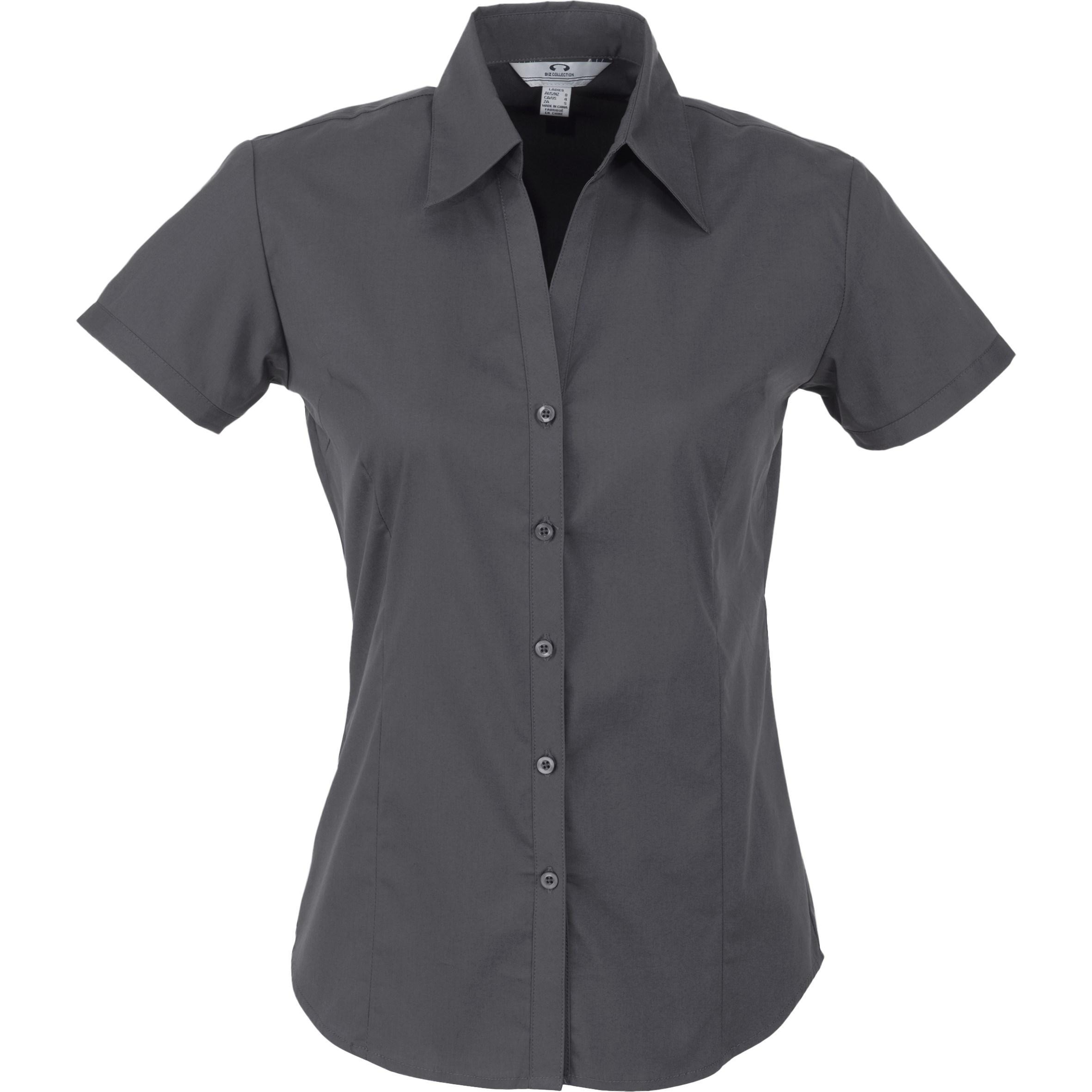Ladies Short Sleeve Metro Shirt - Grey Only
