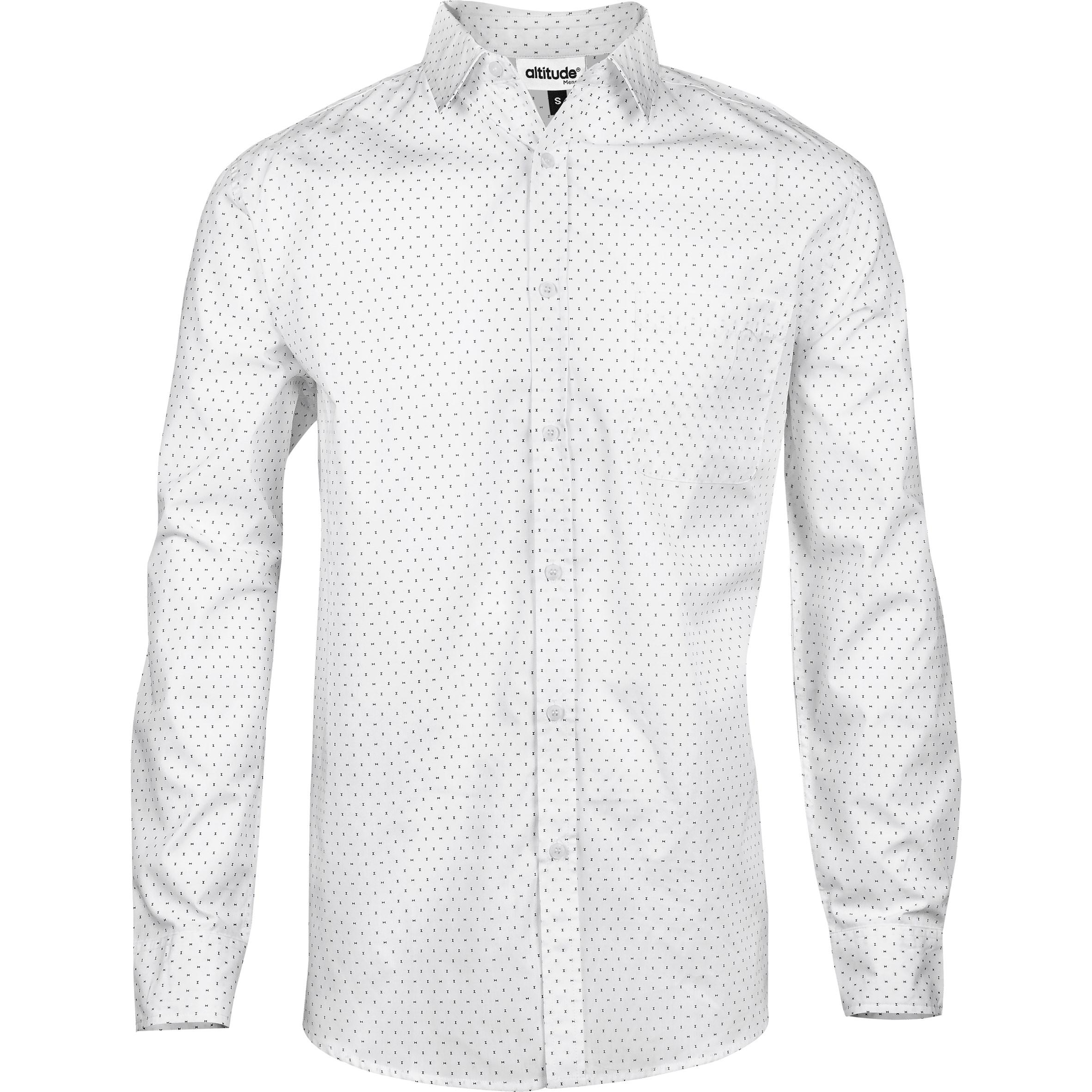 Mens Long Sleeve Duke Shirt -white Only