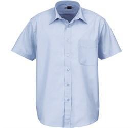 Mens Short Sleeve Washington Shirt - Blue Only