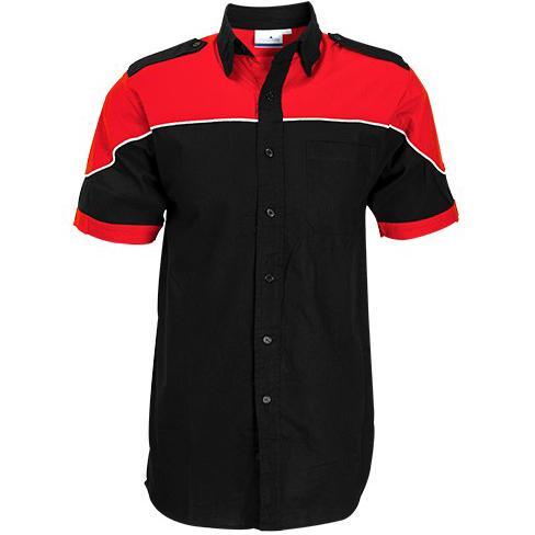 Mens Short Sleeve Racer Shirt - Red Only