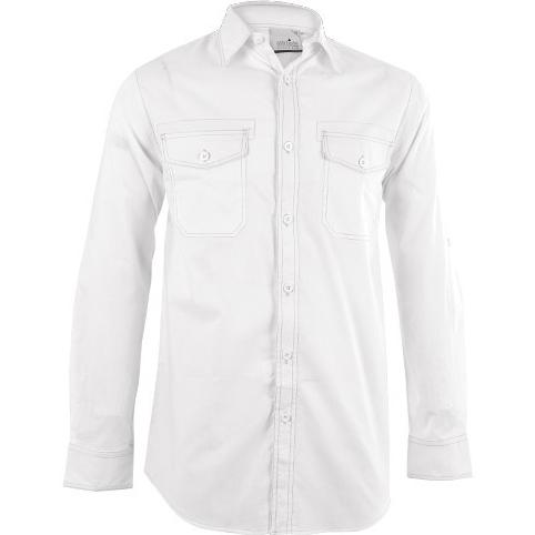 Mens Long Sleeve Inyala Shirt - White Only