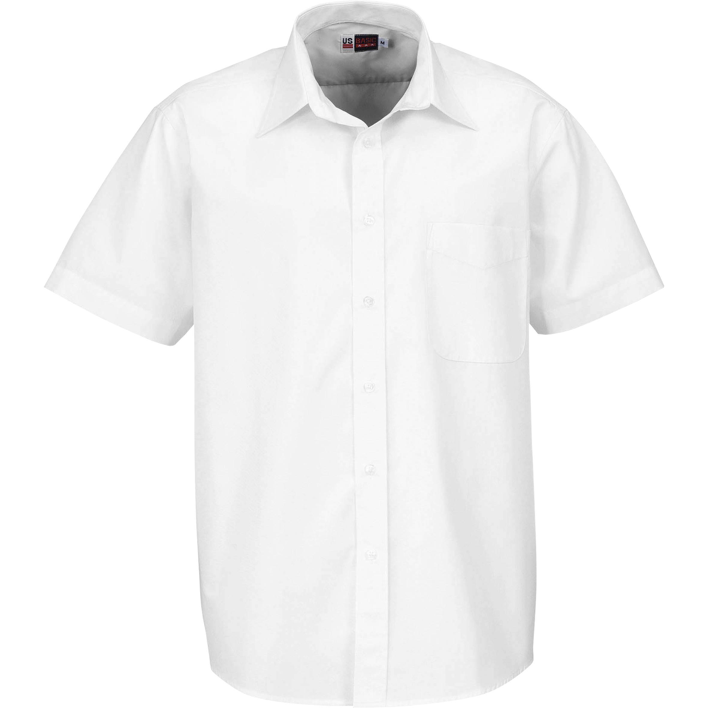 Mens Short Sleeve Washington Shirt - White Only